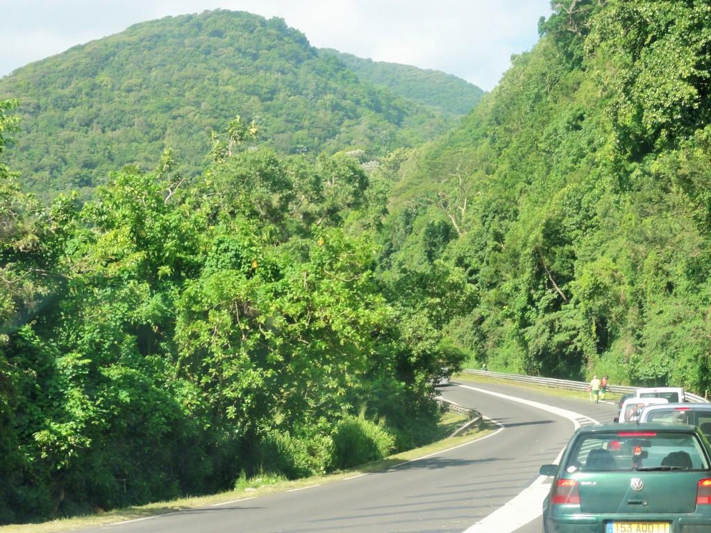 Route Nat 1 en allant vers Basse Terre